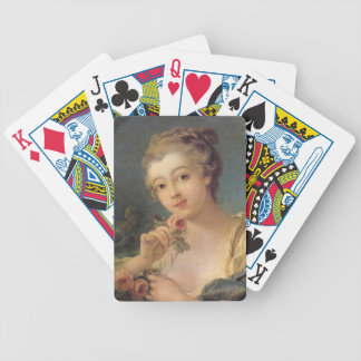 Young Woman with a Bouquet of Roses in detail Bicycle Playing Cards