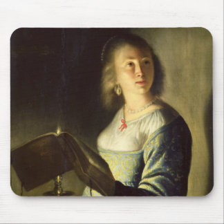 Young Woman with a Candle Mouse Pad