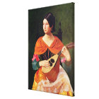 Young Woman with a Mandolin, 1845-47 Canvas Print