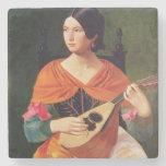 Young Woman with a Mandolin, 1845-47 Stone Beverage Coaster