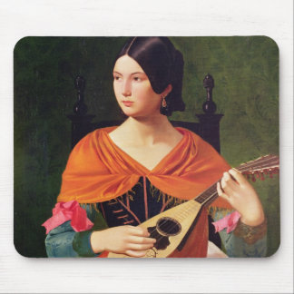 Young Woman with a Mandolin, 1845-47 Mouse Pad