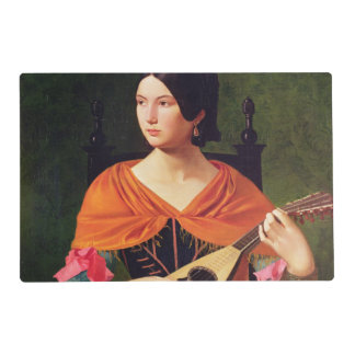 Young Woman with a Mandolin, 1845-47 Placemat