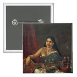 Young Woman with a Veena Button