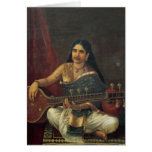 Young Woman with a Veena Card