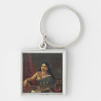 Young Woman with a Veena Key Chains
