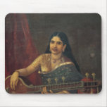 Young Woman with a Veena Mouse Pad
