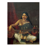 Young Woman with a Veena Postcard