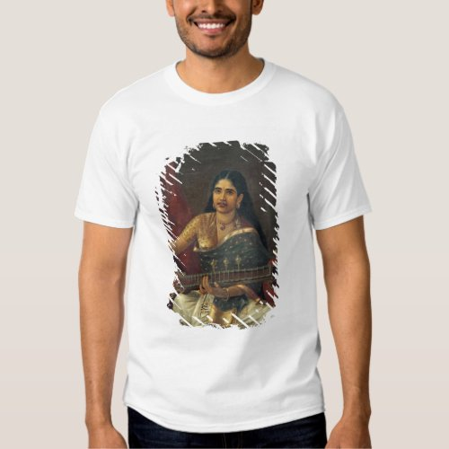Young Woman with a Veena T-Shirt