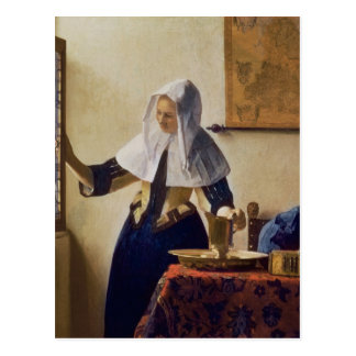 Young Woman with a Water Jug c 1662 Postcard