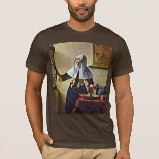 Young Woman With A Water Pitcher.,  By Johannes Ve T-Shirt