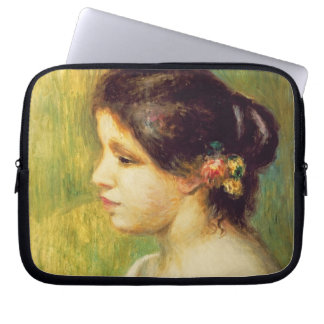 Young Woman with Flowers at her Ear, 1898 (oil on Laptop Computer Sleeve