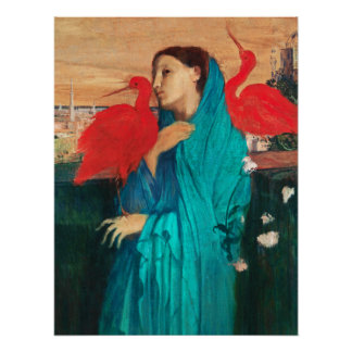 Young Woman with Ibis by Edgar Degas Poster