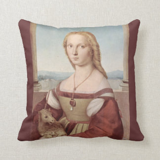 Young Woman with Unicorn Pillow