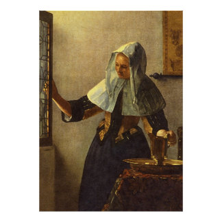 Young Woman with Water Pitcher - Johannes Vermeer Poster