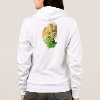 YOUNG WOMANS RAGLAN FLEECE ANGEL HOODIE - COOL!