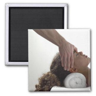 Young women enjoying a massage magnet