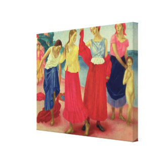 Young Women on the Volga, 1915 Canvas Print