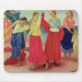 Young Women on the Volga, 1915 Mouse Pad