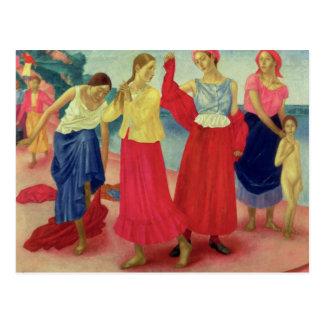 Young Women on the Volga, 1915 Postcard