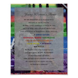 """Young Women Theme"" Painting Series Document Poster"