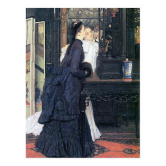 Young women with Japanese goods by James Tissot Postcard