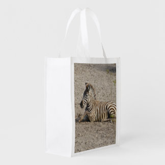 Young zebra 1215A Reusable Grocery Bag