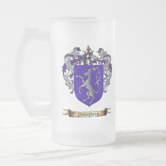 Youngberg Shield of Arms Frosted Glass Beer Mug