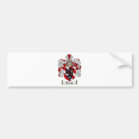 Younge Coat of Arms Younge Family Crest Bumper Sticker