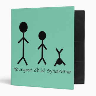 Youngest child syndrome funny binder