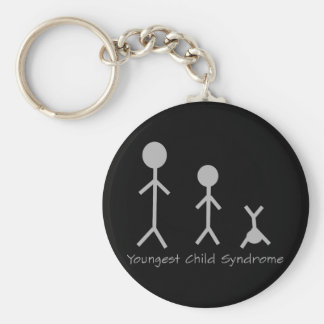 Youngest child syndrome funny keychain