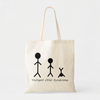 Youngest child syndrome funny tote bag