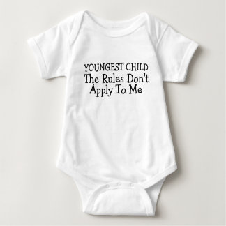 Youngest Child The Rules Dont Apply To Me Baby Bodysuit