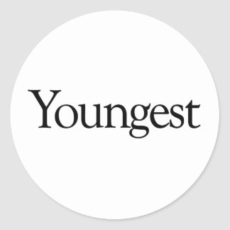 Youngest Classic Round Sticker