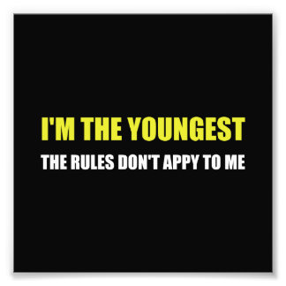 Youngest Rules Dont Apply Photo Print
