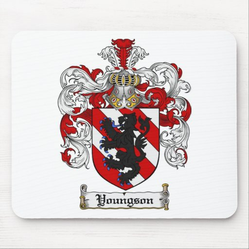 Youngson Coat of Arms Youngson Family Crest Mouse Pad