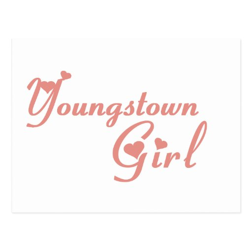 Youngstown Girl tee shirts Post Cards