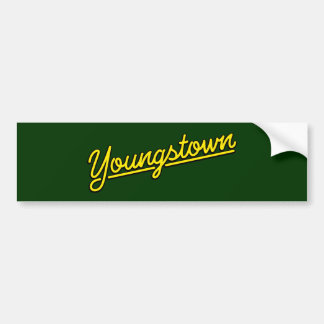 Youngstown in yellow bumper sticker