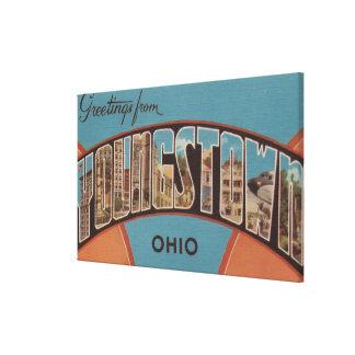 Youngstown, Ohio - escenas grandes 2 de la letra Impresiones En Lona Estiradas