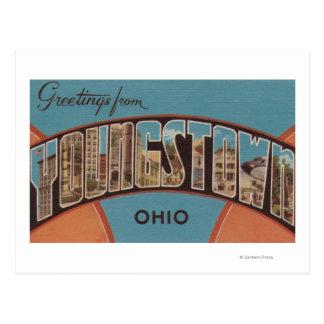 Youngstown, Ohio - escenas grandes de la letra Tarjeta Postal