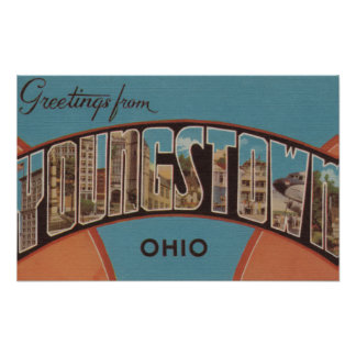 Youngstown, Ohio - Large Letter Scenes 2 Poster