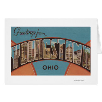 Youngstown, Ohio - Large Letter Scenes Card