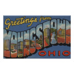 Youngstown, Ohio - Large Letter Scenes Poster