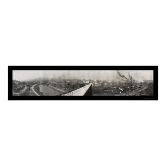 Youngstown Panoramic Photo 1905 Poster