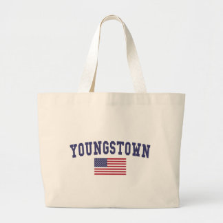 Youngstown US Flag Large Tote Bag