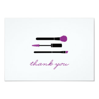 Younique Thank You note Makeup Brushes Card