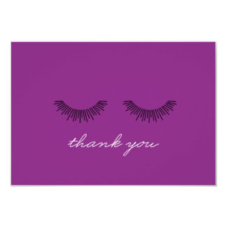 Younique Thank You note Purple Eyelashes Invitations