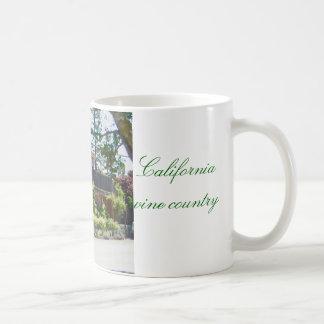 Yountville, California, país vinícola de Napa Taza Básica Blanca