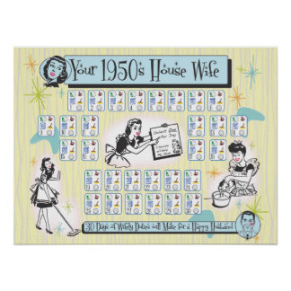 Your 1950s House Wife Print