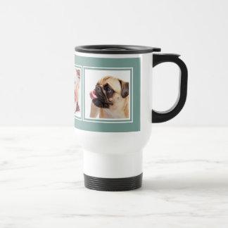 YOUR 3 INSTAGRAM PHOTOS / dogs custom color mugs