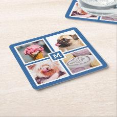 YOUR 4 INSTAGRAM PHOTOS & MONOGRAM coasters